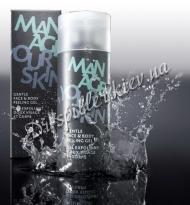 Мягкий гелевый пилинг для очистки пор кожи лица и тела мужчин Доктор Шпиллер Gentle Face & Body Peeling Gel Dr Spiller Biocosmetic